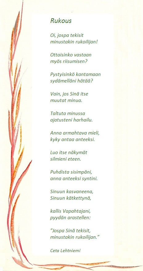 pääsiäinen 2014 runot